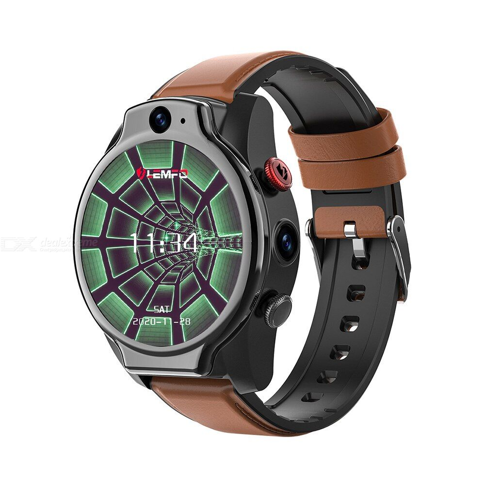 Lemfo lem14 4g smart watch waterproof 4g 64gb lte 4g sim 1.6 inch full mount ips screen dual camera