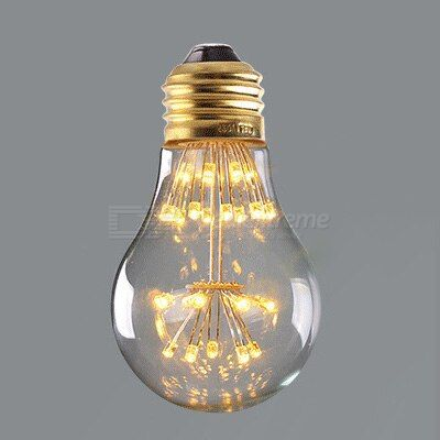 Gypsophila art bulb energy-saving screw bulb led bulb light pentagram bulb heart-shaped bulb
