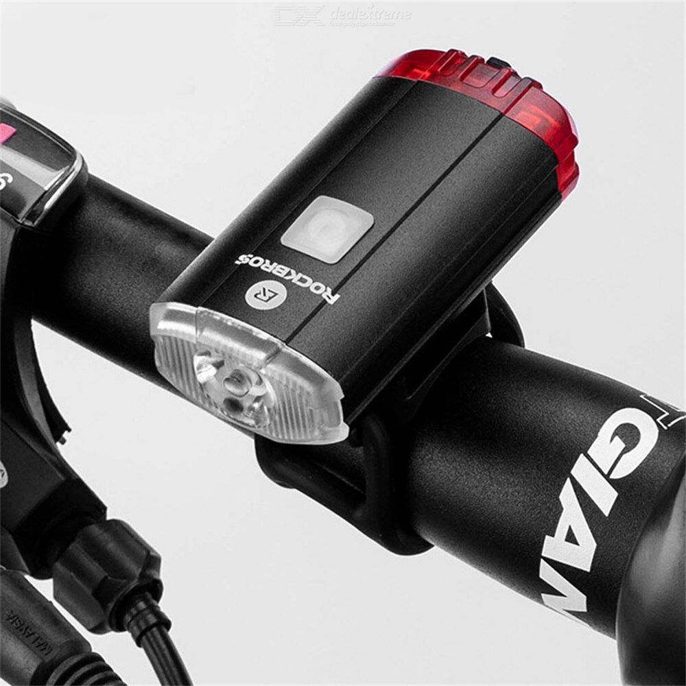 Rockbros bicycle light 3-speed adjustment 100 lumens waterproof portable rechargeable usb port