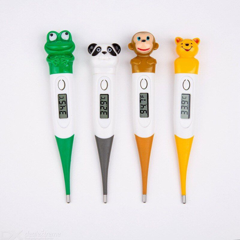 Animal use digital thermometer lcd screen electronic temperature tester portable pet soft probe thermometer