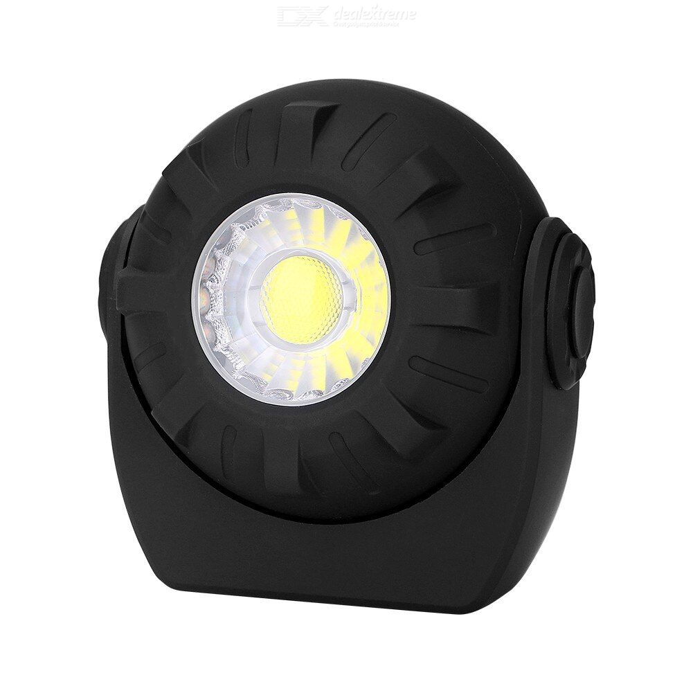 Portable lantern cob flashlight magnet adsorption led working lamp emergency light torch