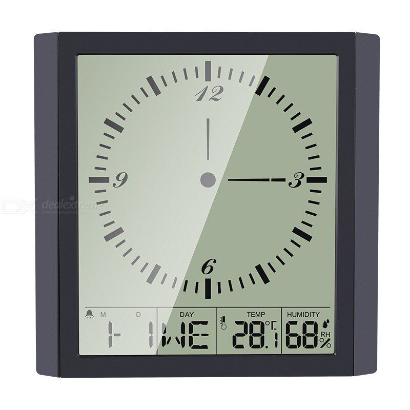 Multifunctional electronic digital wall clock smart creative digital display clock household thermometer hygrometer clock