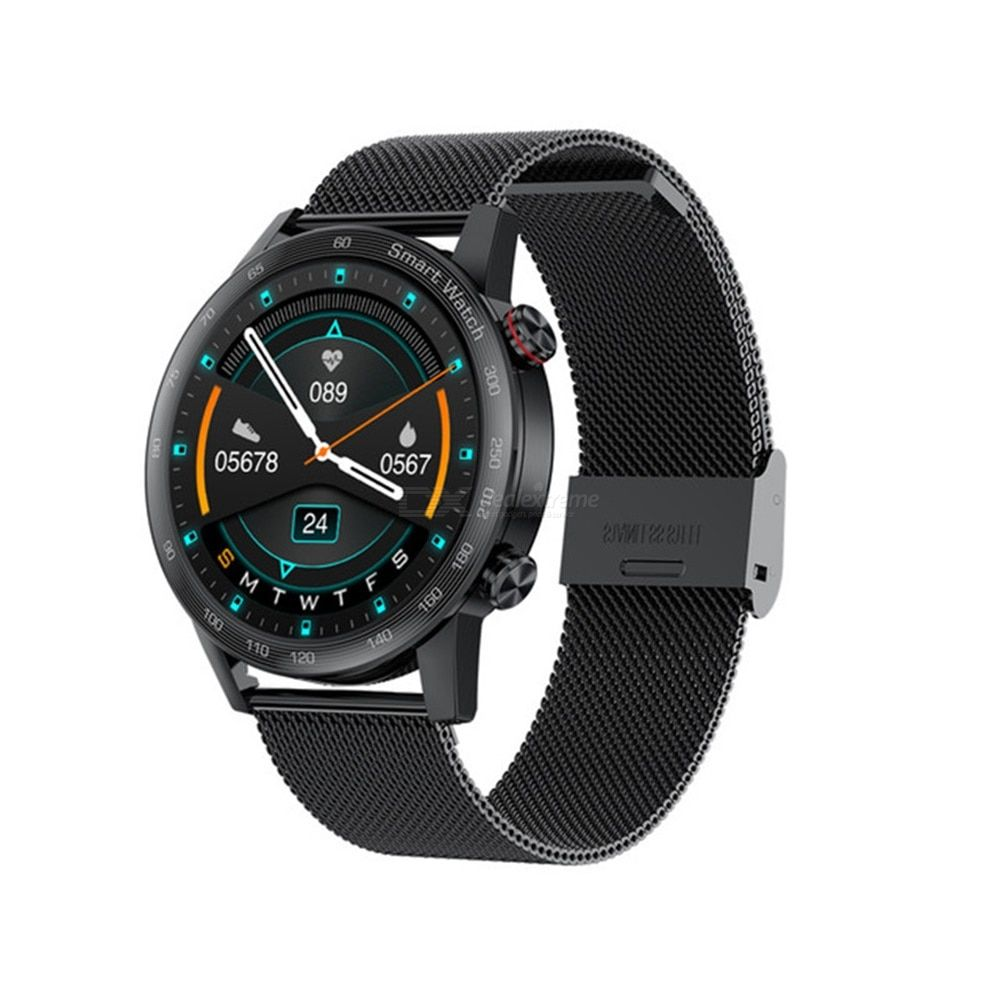 Ak25 smartwatch 1.28 inch hd full touch screen waterproof fitness tracker bluetooth call