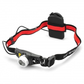 Zooming Q5 160LM 2-Mode 1-LED White Light Headlamp (3 x AAA/3.6-4.5V)