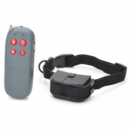Electronic Bark-Control Dog Collar with RF Remote Controller -Black