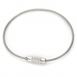 Multi-Functional Outdoor Stainless Steel Rope Keychain Ring - Silver