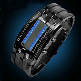 SKMEI 0926 LED 30 Meter Waterproof Zinc Alloy Digital LED Watches for Men - Black (2 x CR2016)