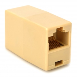 RJ45 Network Cable Extension Coupler - Yellowish