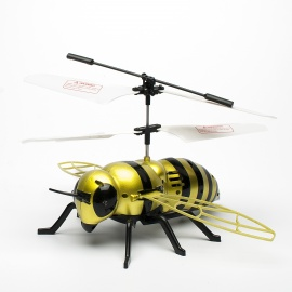 J063 2-CH Honeybee Style IR R/C Outdoor Helicopter  - Green + Black (6 x AA)