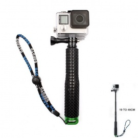 Skidproof Handheld Aluminum Alloy Monopod w/ Tripod Mount Adapter for GoPro HD Hero 2 / 3 / 3+ /4