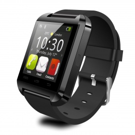 "Uwatch U8 Plus Wearable 1.44"" Touch Screen Smart Watch Phone w/ Bluetooth & Pedometer - Black"