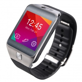 "No.1 G2 MTK2502 1.54"" Bluetooth V4.0 Smart Watch w/ Heart Rate, Pedometer, Camera - Black"