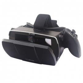 "Universal Virtual Reality 3D Video Glasses w/ Bluetooth Control for 4~7"" Smartphone - Black + Purple"