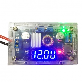 XGHF-5A 0.56'' Blue LED Drive Lithium Battery Charger with Voltmeter Ammeter DC-DC Module - Blue