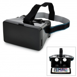 "TERIOS Virtual Reality VR 3D Glasses w/ Sucking Disk for 3.5~5.6"" Smart Phones - Black"