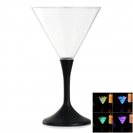 Beautiful LED Luminous Champagne Glass Cup Goblet for Party - Transparent (260ml / 3 x AG13)