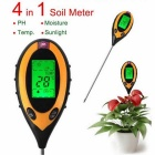Electronic Soil PH Humidity Temperature Analyzer - Black + Orange