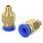 Pneumatic Quick Plug Push-in Tube Connectors - Blue + Yellow (2PCS)