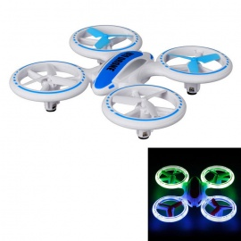 JXD 398 4CH 6-Axis RC Quadcopter w/ LED Night Light - White + Blue