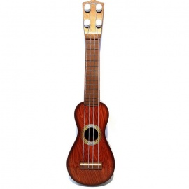 Baby Children Beginners Small Guitar Music Playing Device - Brown