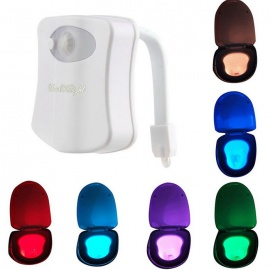 YouOKLight 1W 8-Color Motion Activated Sensor Toilet Lamp (3*AAA)