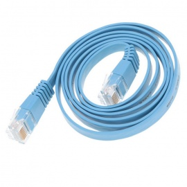 Cat.6 RJ-45 Giga-Speed Ultra Flat LAN Network Cable - Light Blue(1.5m)