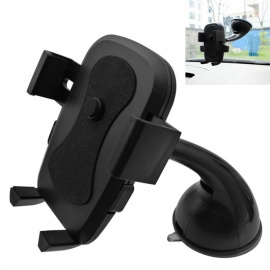 ZIQIAO 360 Suction Cup Type Mobile Phone Bracket - Black