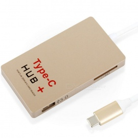 OURSPOP C24 USB 3.1 Type-C to HDTV HDMI / USB 3.0 / SD Card Reader