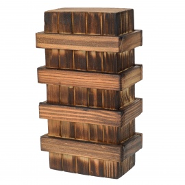Magic Wooden Box with Extra Secure Secret Drawer - Wood