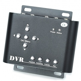 2-Channel Mini DVR Audio Video Recorder with SD Card Slot