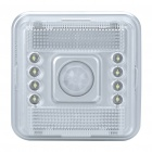 PIR Motion Activated 8-LED White Light - Silver (2 x AA)