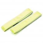 Velcro Light Reflection Arm Band for Night Cycling - Green (2 Pieces/Set)