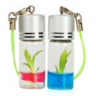 Real+Growable Lucky Bamboo Plant In-a-Bottle Keychain (2-Pack)