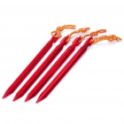 Aluminum Camping Tent Spikes Nail Stakes - Red (4-Pack)