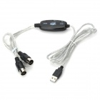 USB to MIDI Cable with 16 MIDI Input/Output Channels (1.8-Meter)