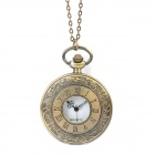 Large Retro Fashion Roman Number Pattern Pocket Watch with Nec