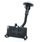 Car Swivel Mount Holder with Car Charger for Iphone 4S - Black + White