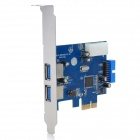 Super Speed 2-Port USB 3.0 PCI-E Express Card (5Gbps)