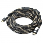 1080P 3D HDMI V1.4 Male to Male Connection Cable - Black + Yellow(10M-Cable Length)