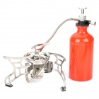 CAMPSOR-10 Split Type Camping Oil/Gas Fuel Stove - Silver + Red