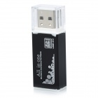 SIYOTEAM USB 2.0 Multi in One Memory Card Reader - Black (Max. 32GB)