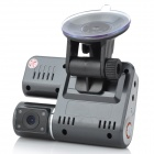 "X6 2.0"" LCD 3.0MP CMOS Wide Angle Car DVR Camcorder w/ Rearview Camera / TF / AV-Out - Black"
