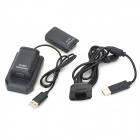 """Dual 3.6V """"4800mAh"""" Battery Packs w/ USB Charging Cradle / Cable for Xbox 360 Wireless Controller"""
