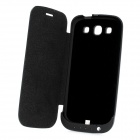 3200mAh External Battery Back Case w/ PU Leather Cover for Samsung i9300 Galaxy S3 - Black