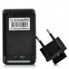 AC Battery Charger w/ US Plug + EU Plug Power Adapter for Samsung Gal