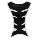 Protective Fish Bone Style Motorcycle Oil Tank Sticker - Black