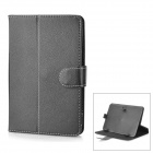 """Universal Protective 360 Degree Rotation PU Leather Case for 7"""" Tablet - Black"""