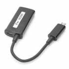 Micro USB Male to HDMI MHL HDTV Adapter Cable for Samsung S3 i9300 - Black (10cm)