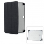 Protective PC + Fiber Case for Samsung Galaxy Note 10.1 N8000 - Black