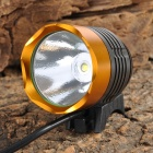 SingFire SF-90 1000lm 4-Mode White Bicycle Headlamp - Golden + Deep Grey (4 x 18650)